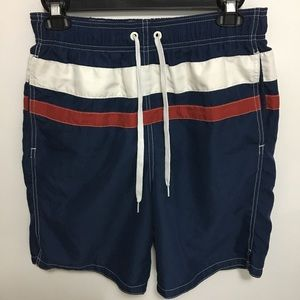 Merona Men's Small Navy Blue Swim Trunks